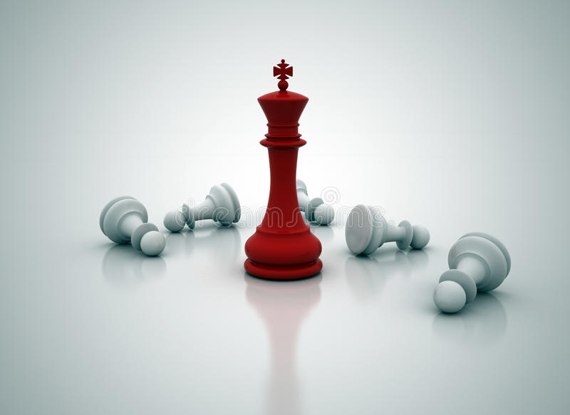 Schachkönigstellung lizenzfreie abbildung