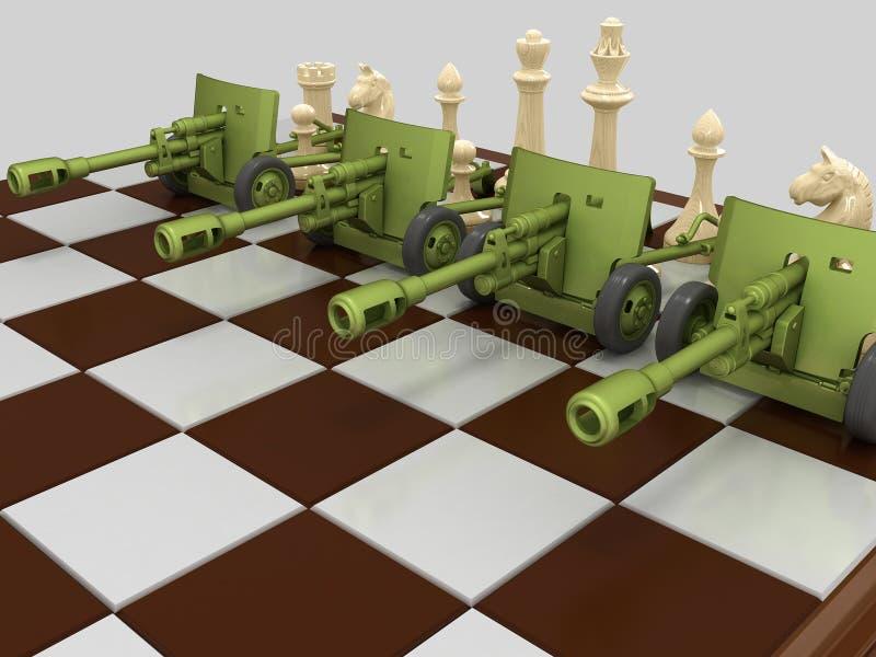 Schachkrieg 3 lizenzfreie abbildung
