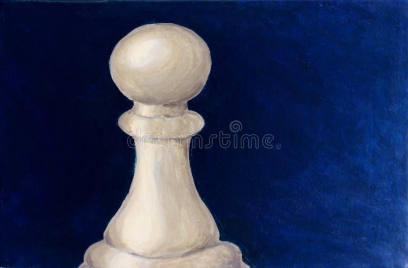 Schachpfand - Acrylmalerei stockbilder