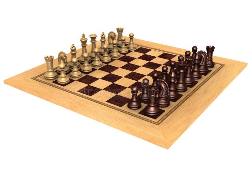 Schachspiel stock abbildung