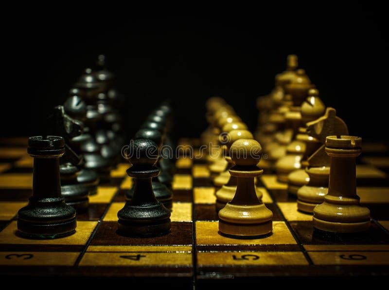 Schachspiel II stockfoto