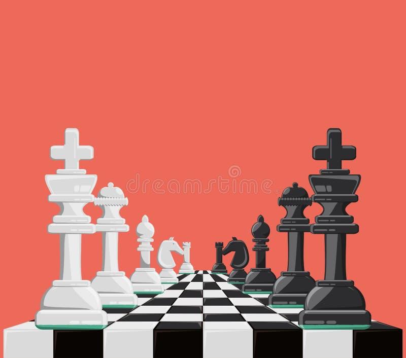 Schachspieldesign stock abbildung