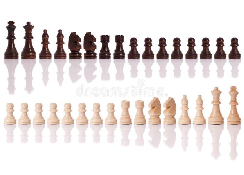 Schachstücke stockbilder