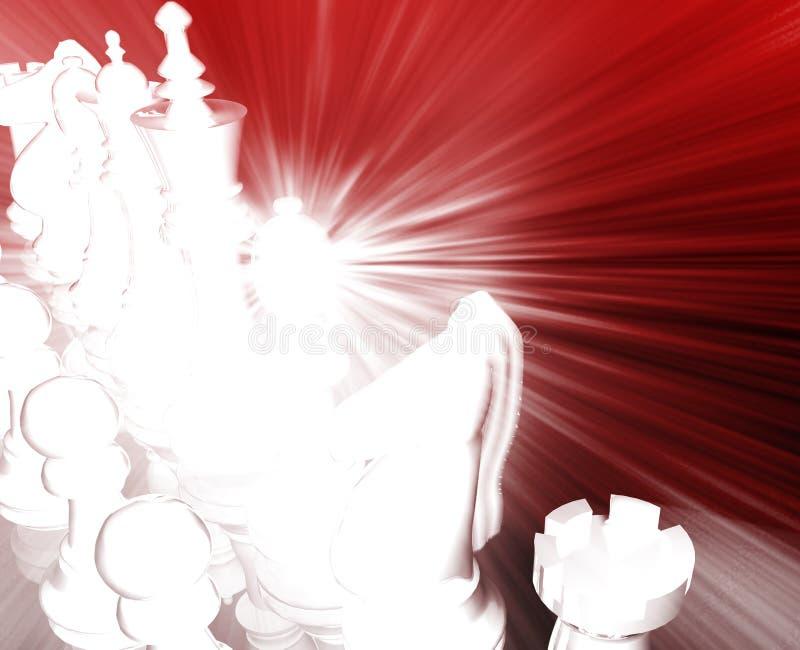 Schachstrategienkonzept lizenzfreie abbildung