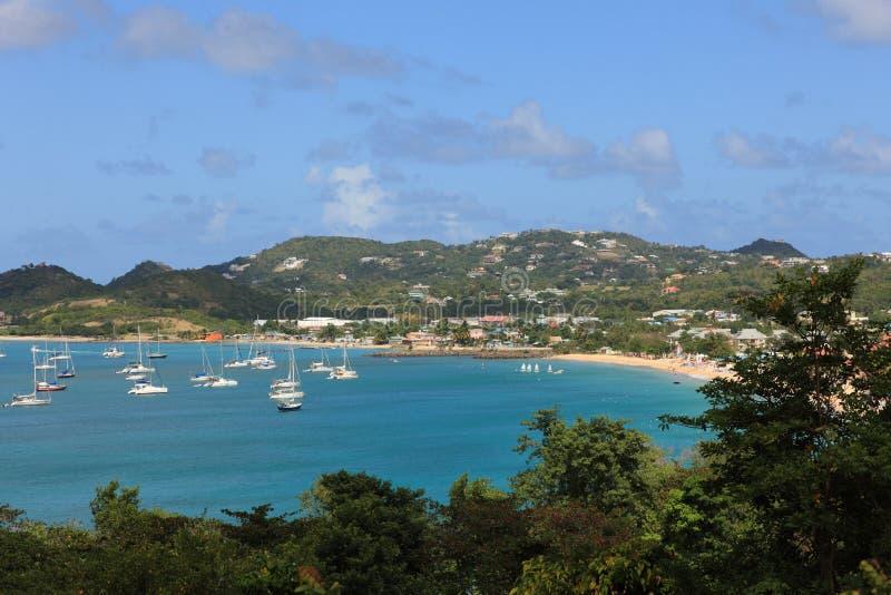 Schacht auf St Lucia lizenzfreie stockfotografie