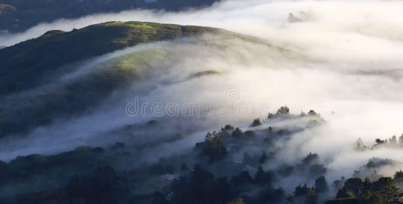 Schacht-Bereich, San Francisco - pazifische Wolken lizenzfreie stockbilder