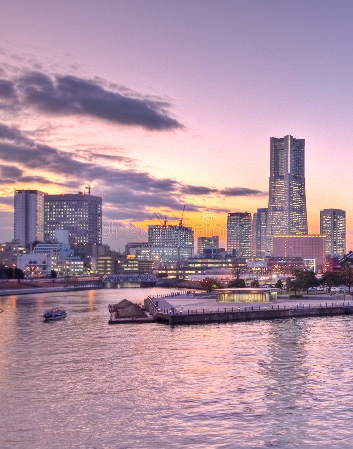 Schacht Tokyo-Japan Yokohama lizenzfreies stockfoto