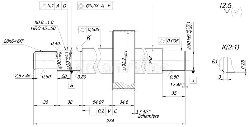 Schachtschets met afkantingen Toestel, schakelnet, potlood en ontwerp stock illustratie