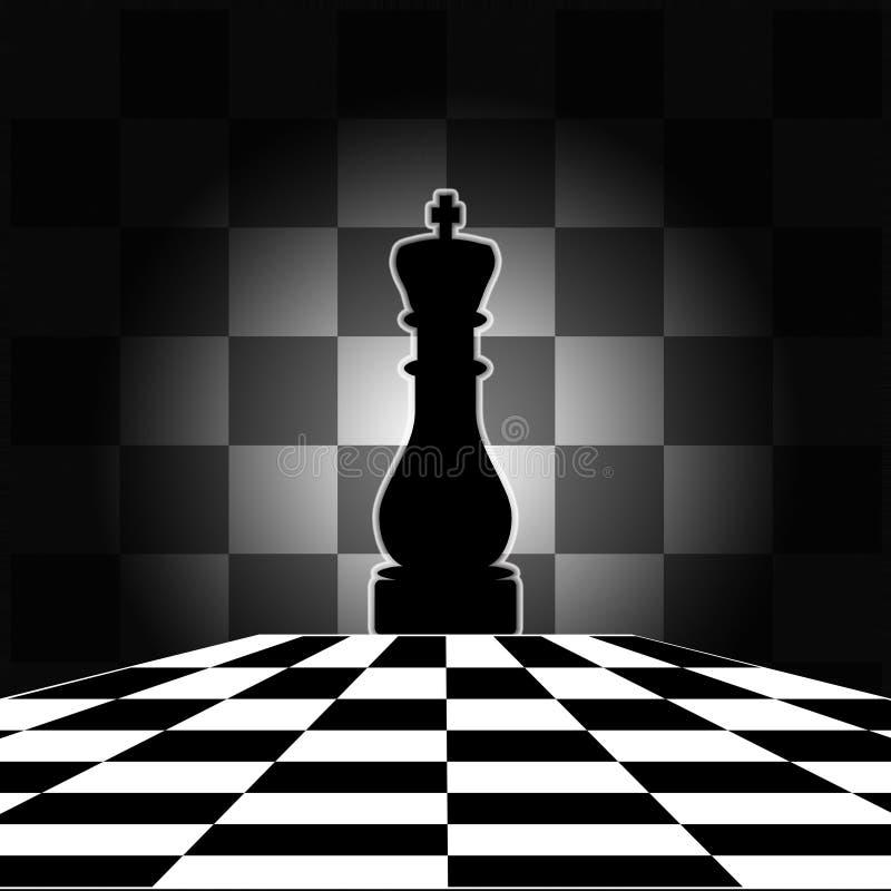 Schachvorstand mit König lizenzfreie abbildung