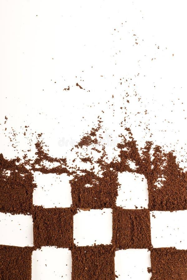 Schachvorstand vom Kaffee lizenzfreie stockfotos