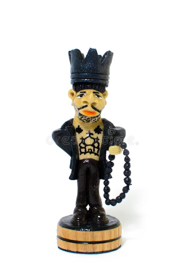 Schachzahl König in Form eines Gefangenen lizenzfreie stockfotos