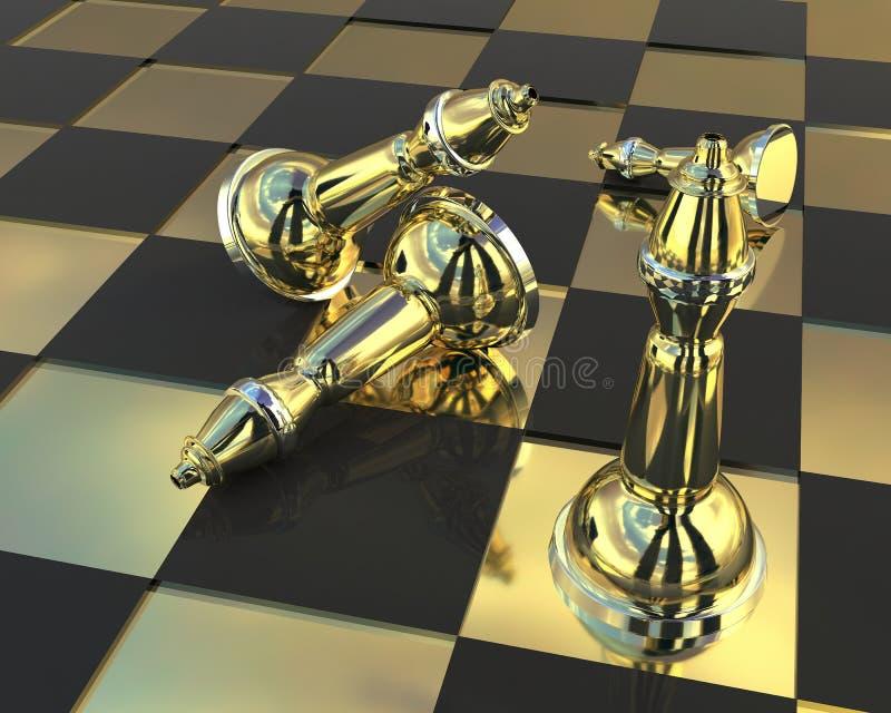 schack royaltyfri illustrationer