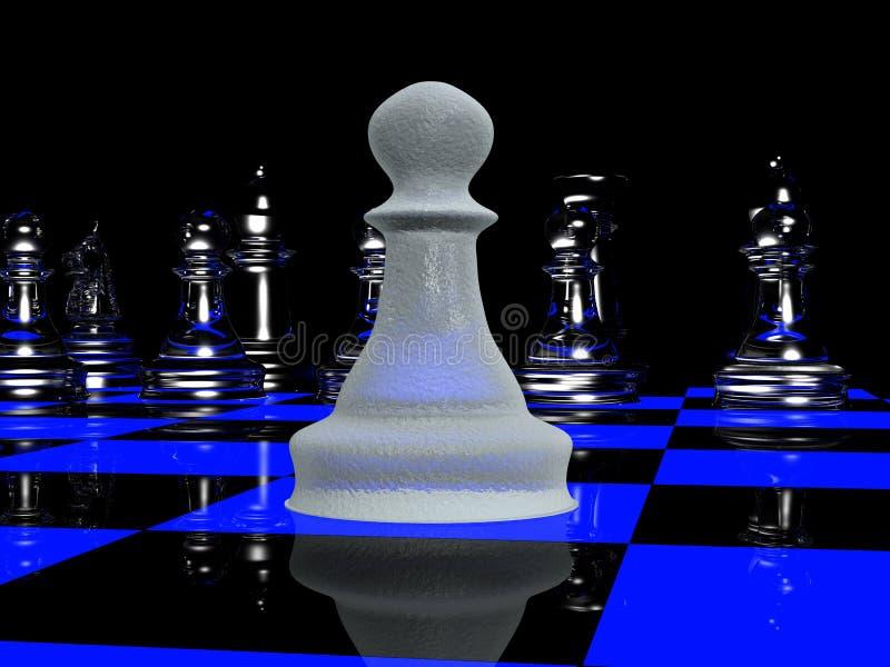 schack för 2 blacklight vektor illustrationer