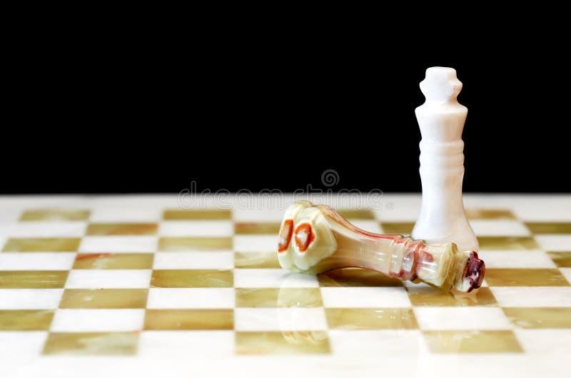 Schack gör till kung ombord royaltyfria bilder