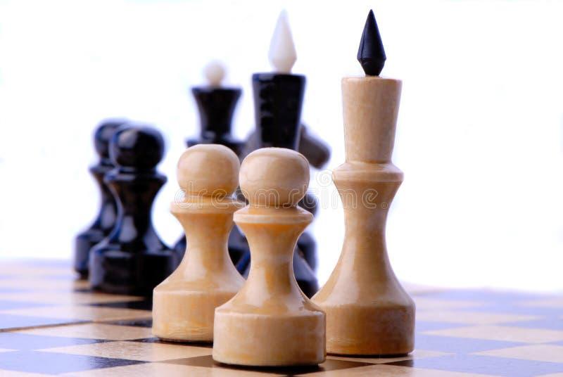 Schack-manar arkivfoton