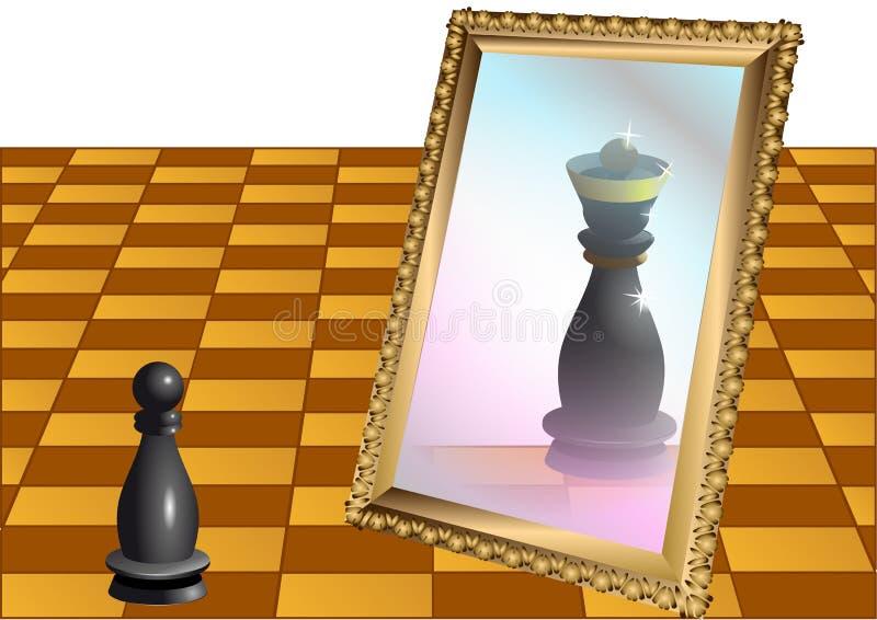 Schack pantsätter som drottningen royaltyfri illustrationer