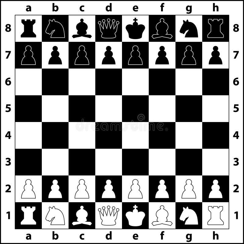Schackbräde vektor illustrationer