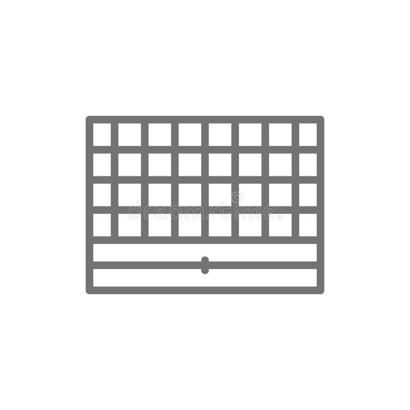 Schackbräde, bärbar modig linje symbol stock illustrationer