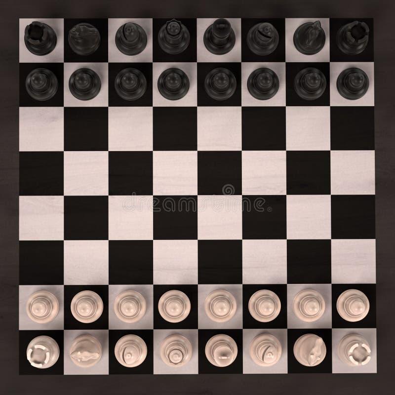 Schackbrädelek vektor illustrationer