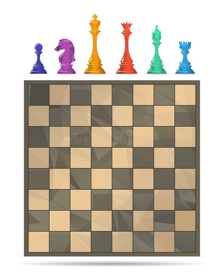 Schackbrädelek royaltyfri illustrationer