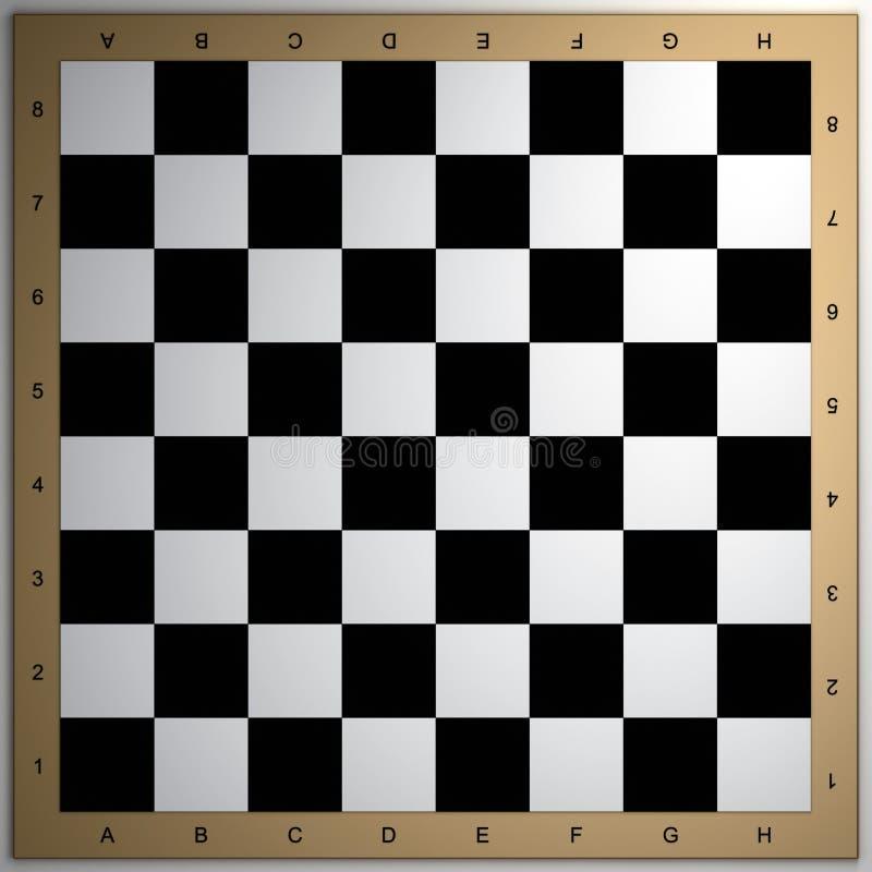 schackbrädet 3d framför vektor illustrationer