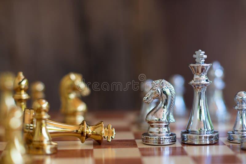 Schackbr?delek, konkurrenskraftigt begrepp f?r aff?r royaltyfria bilder