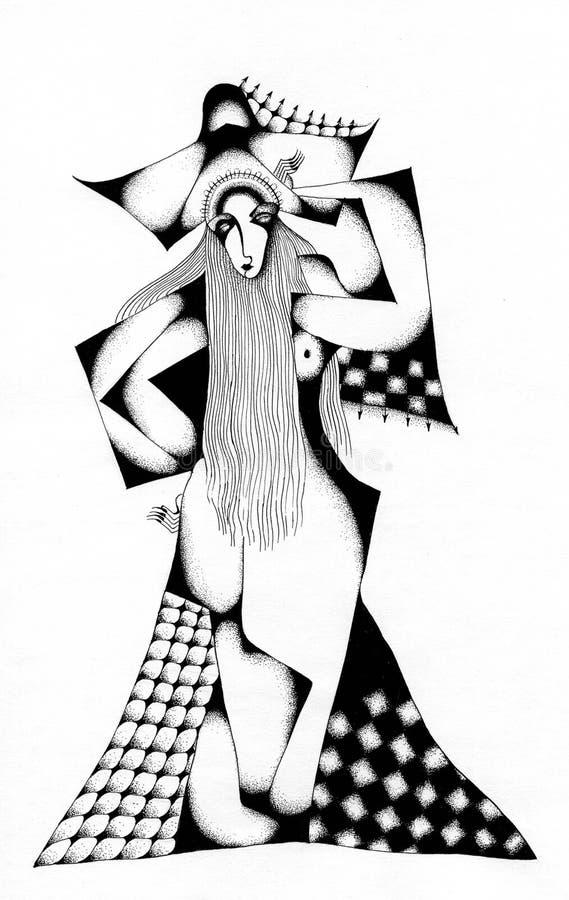 schackdrottning royaltyfri illustrationer