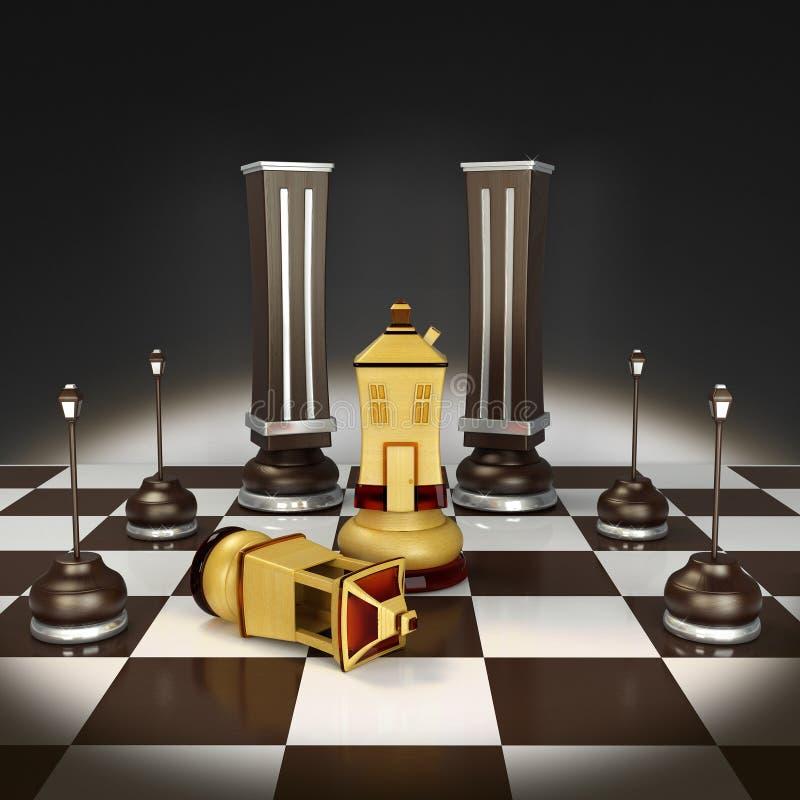 schacket 3d returnerar illustrationen arkivbild