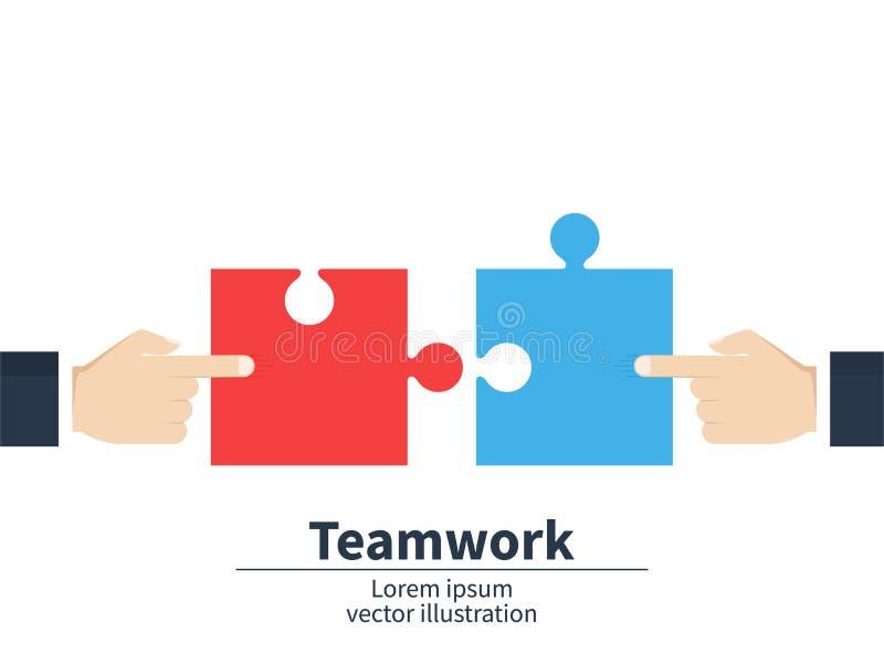 Schacket figurerar bishops Affärsmän som rymmer ett pussel Strategi och lösning Samarbete som kombinerar vektor vektor illustrationer