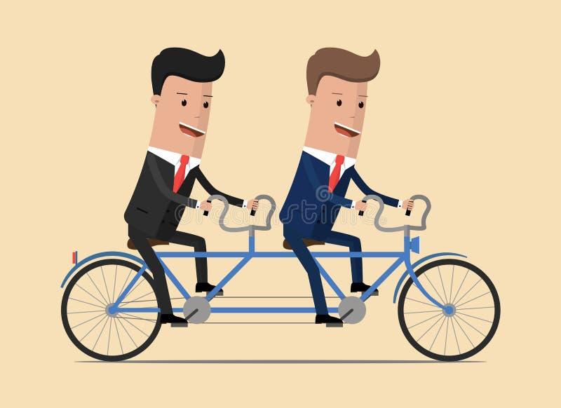 Schacket figurerar bishops Grupp av affärsmannen som rider en cykel också vektor för coreldrawillustration royaltyfri illustrationer