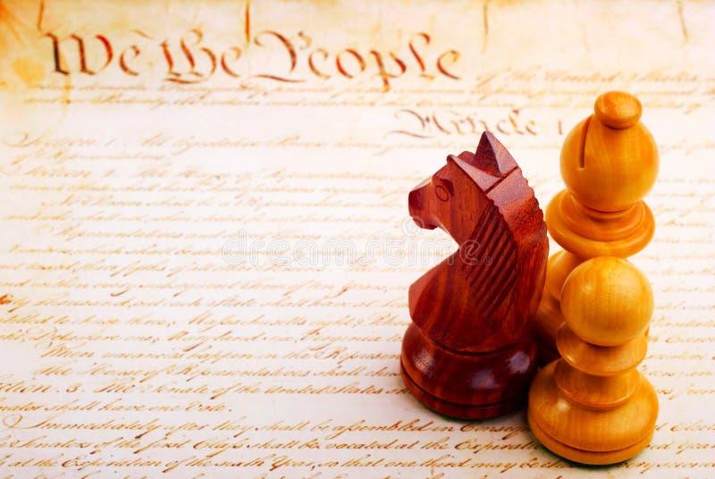 Schack och konstitution royaltyfri foto