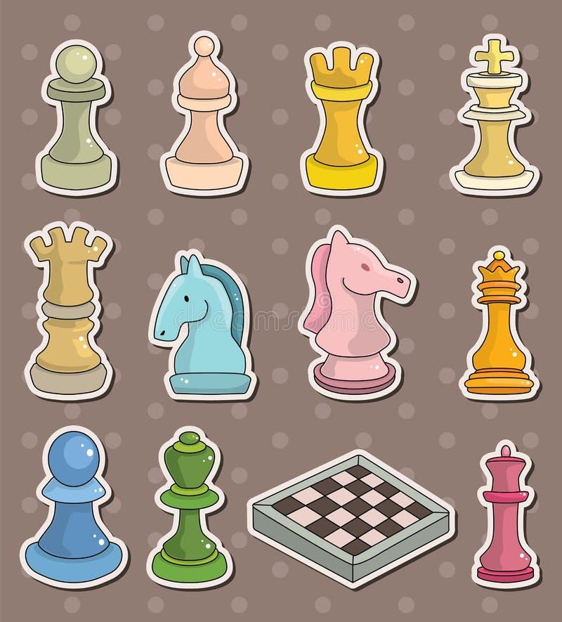 schacketiketter royaltyfri illustrationer