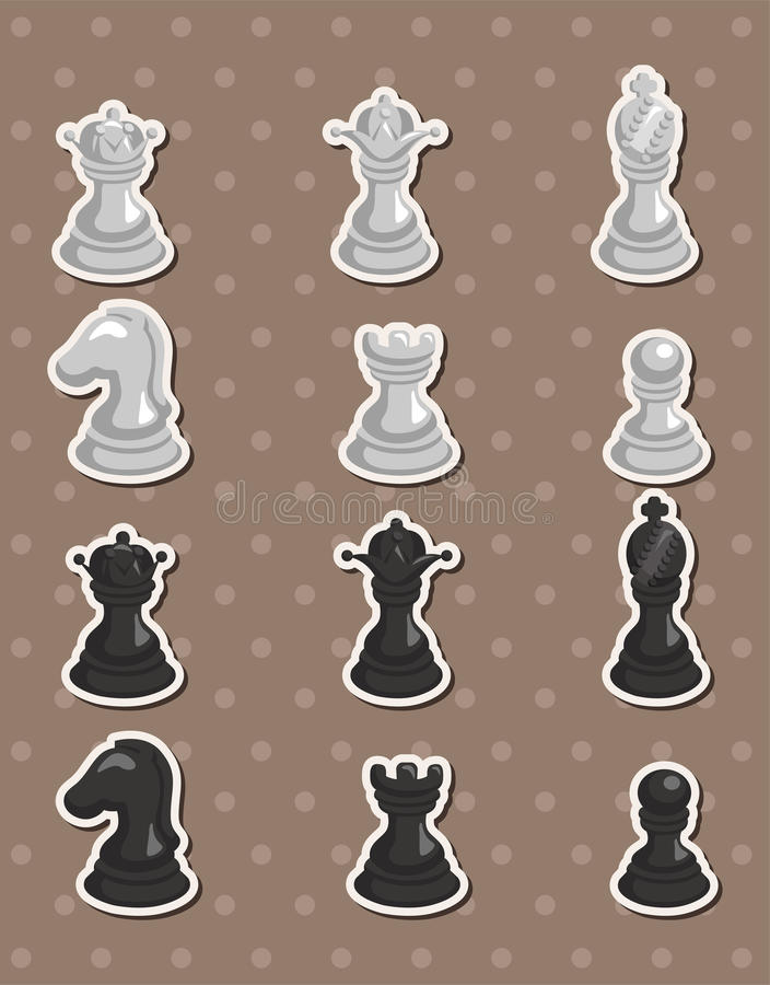 Schacketiketter stock illustrationer