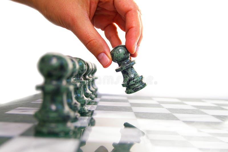 schackflyttning arkivfoton