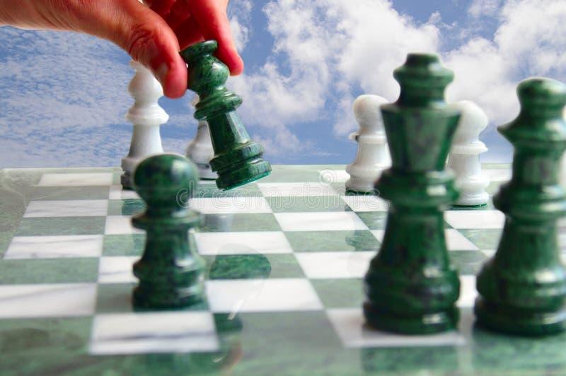 schackflyttning royaltyfria bilder