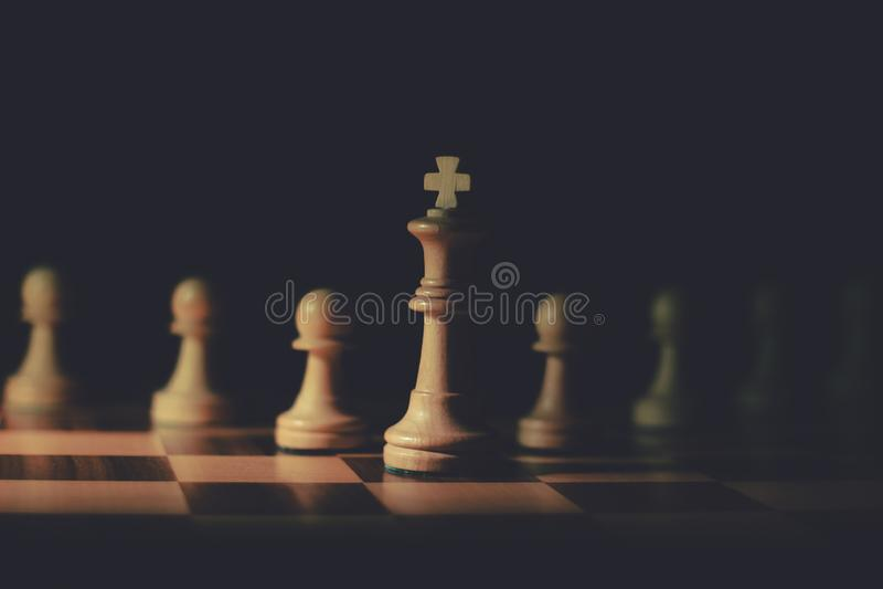 SchackHerren royaltyfria bilder