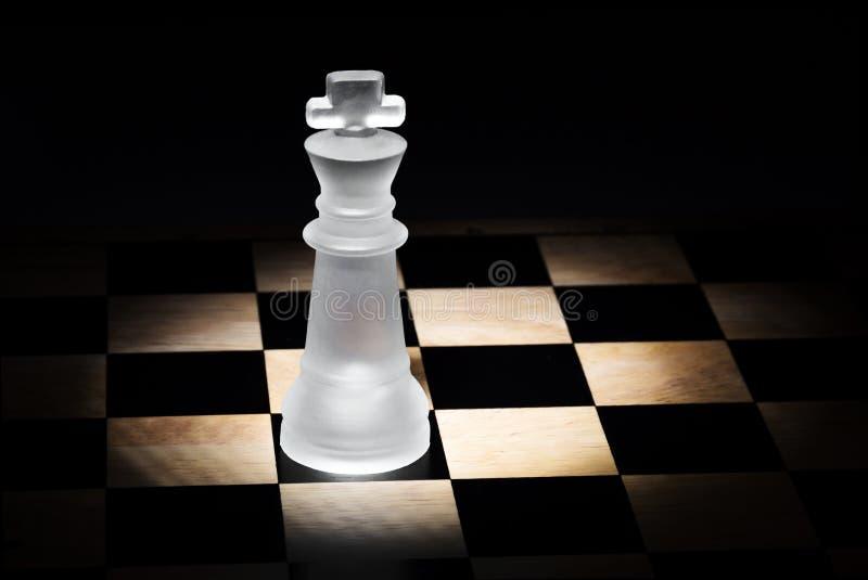Schackkonung arkivfoton