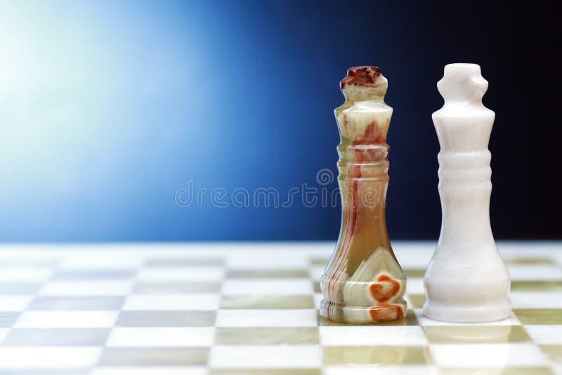 Schackkonungar på mörker royaltyfria foton