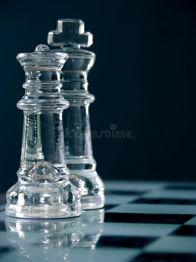 schackkonungdrottning royaltyfria foton