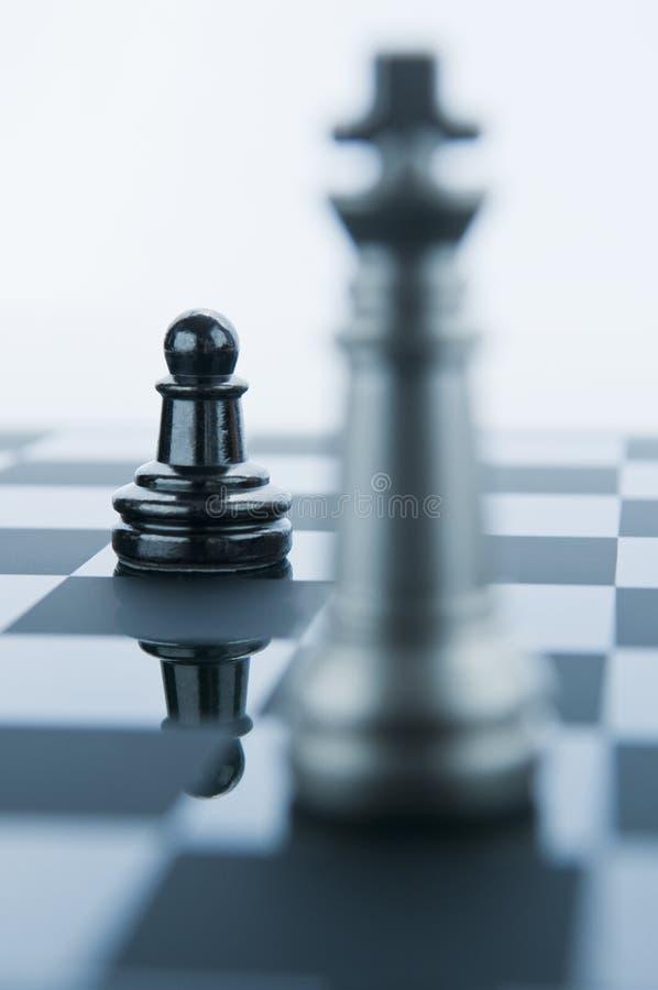 schackkonungen pantsätter stycken arkivfoton
