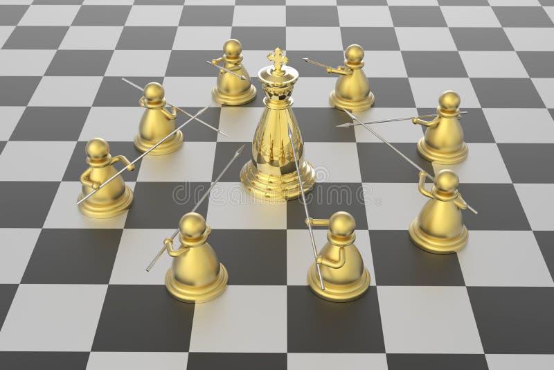 Schackmatt vektor illustrationer