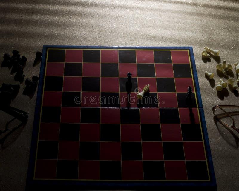 Schacknederlag arkivfoton