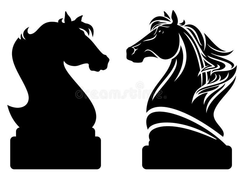 Schackriddare vektor illustrationer