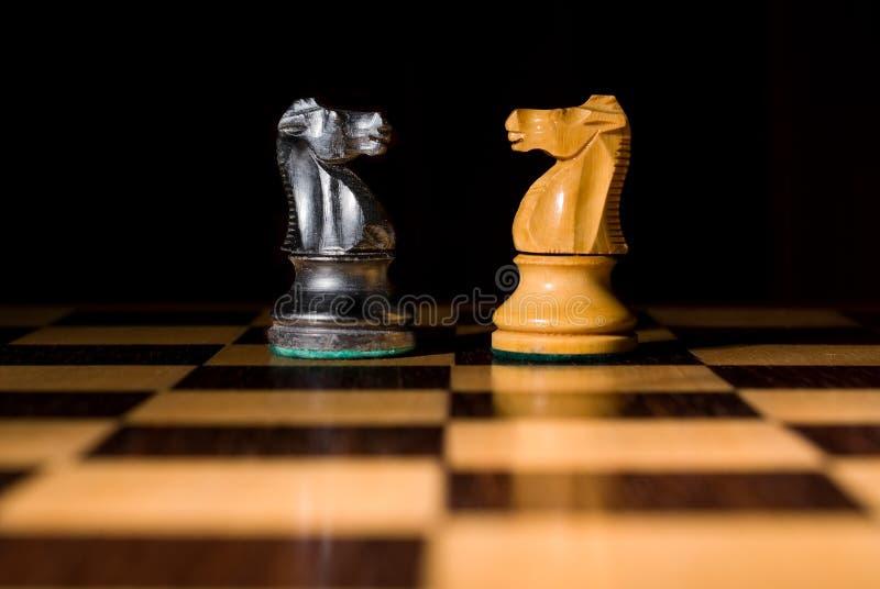schackschackbrädeslagsmål adlar två arkivbilder