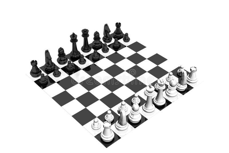 schackset royaltyfri illustrationer