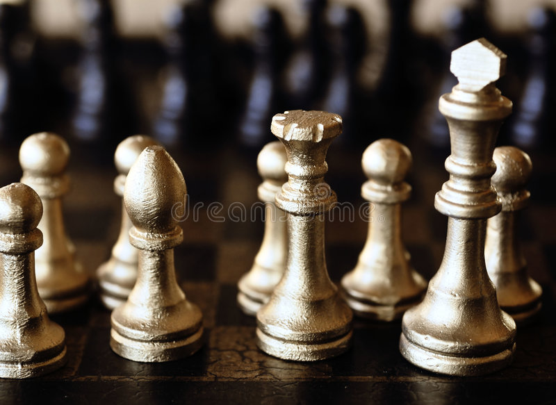 schackset royaltyfri bild
