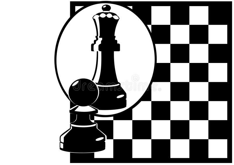 schackspegel stock illustrationer