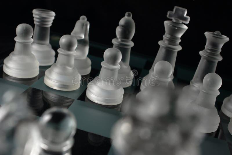 Schackstycken royaltyfri foto