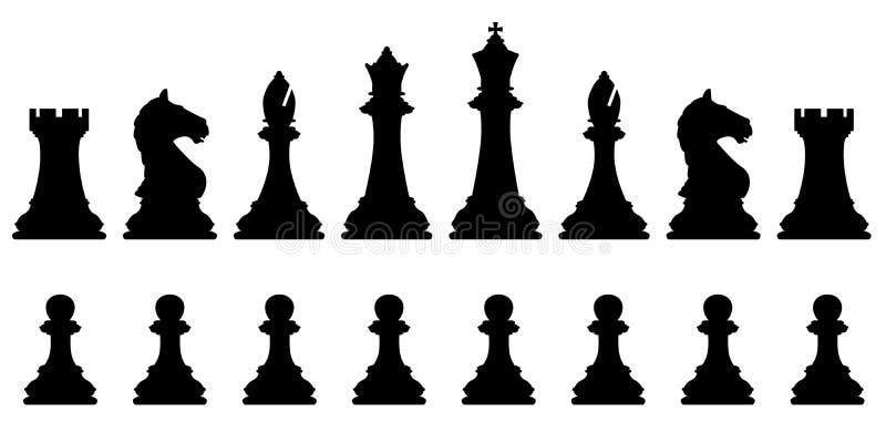 Schackuppsättning stock illustrationer
