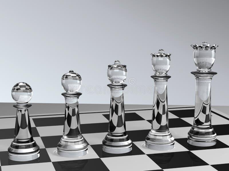 schackutveckling royaltyfri illustrationer